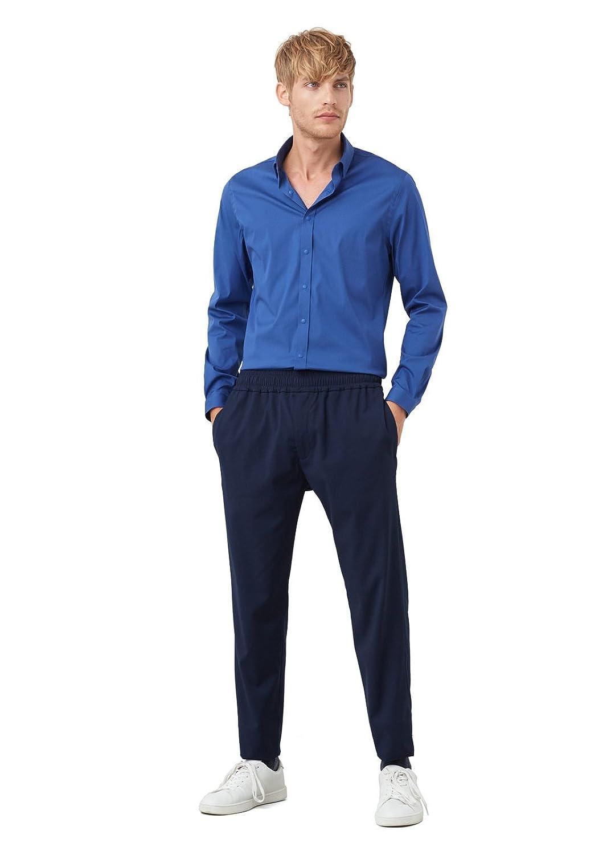 MANGO MAN - Modern slim-fit cotton Plain shirt
