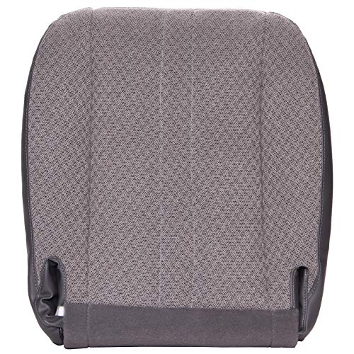(The Seat Shop Work Van Driver or Passenger Bottom Replacement Seat Cover - Medium Dark Pewter (Gray) Cloth (Compatible with 2003-2014 Chevrolet Express and GMC)