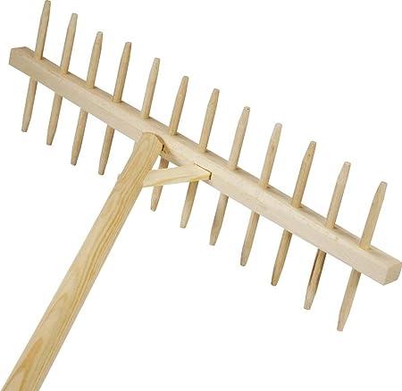 Brico-materiaux - Rateau bois / Rateau équerre 17 dents bois ...