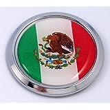 Mexico Mexican Round Flag Car Chrome Decal Emblem bumper Sticker bezel badge