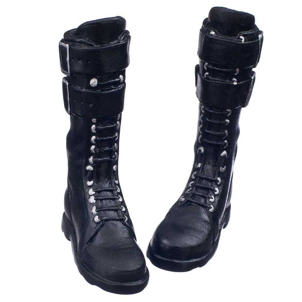 Juguetes Juegos Muñecas Zapatos Zapatillas Botas 1/6 Cuerpo Figura 12 Pulgadas - Botas Femeninas, Negro