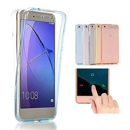 Huawei P8 Lite 2017 Funda, 2ndSpring 360 Grados Doble Delantera + Trasera De Gel Integral Silicona TPU Carcasa Case Cover para Huawei P8 Lite ...