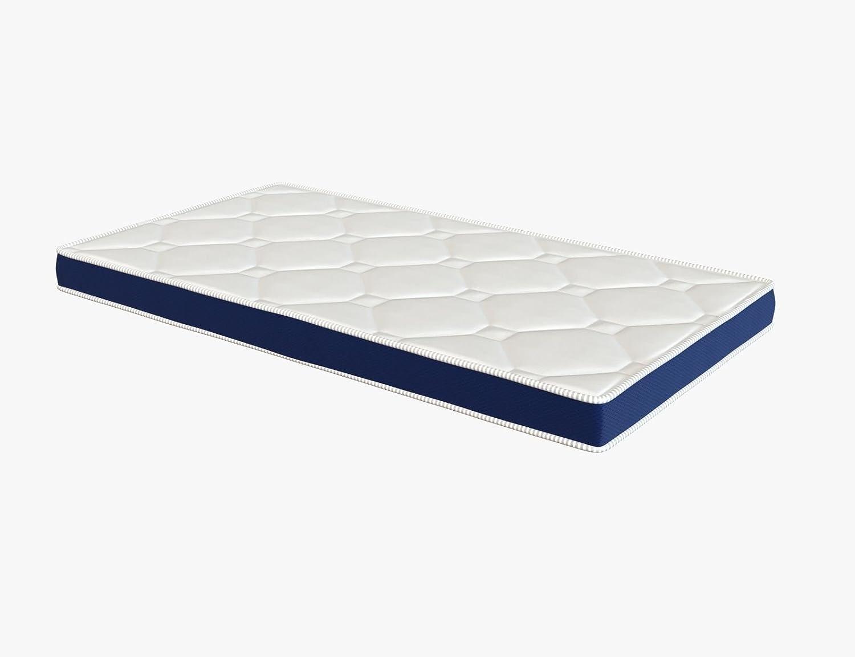 El Almacen del Colchon - Colchón espumación, Modelo Ten, 90 x 180x 10cm - Todas Las Medidas, Blanco y Azul