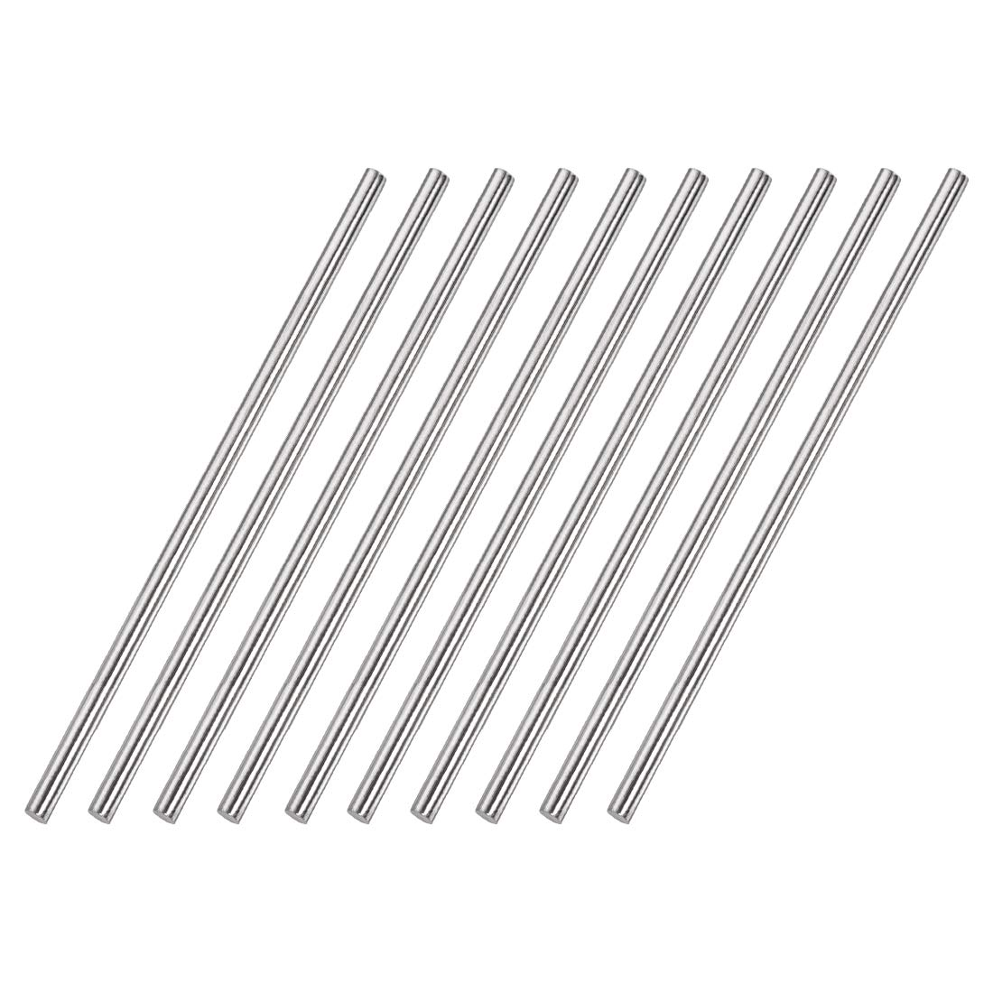 10pcs uxcell 4mm x 100mm 304 Stainless Steel Solid Round Rod for DIY Craft