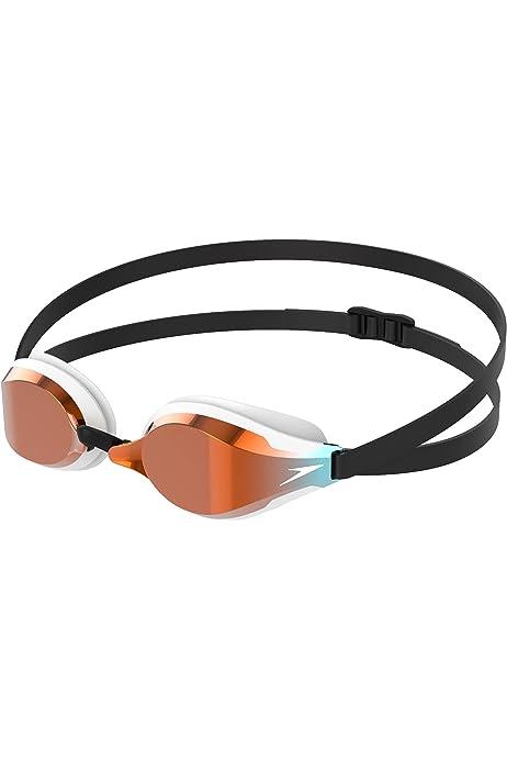 One Size White//Violet//Green Speedo Fastskin Speedsocket 2 Mirror Goggle Swimming Goggles Unisex-Adult