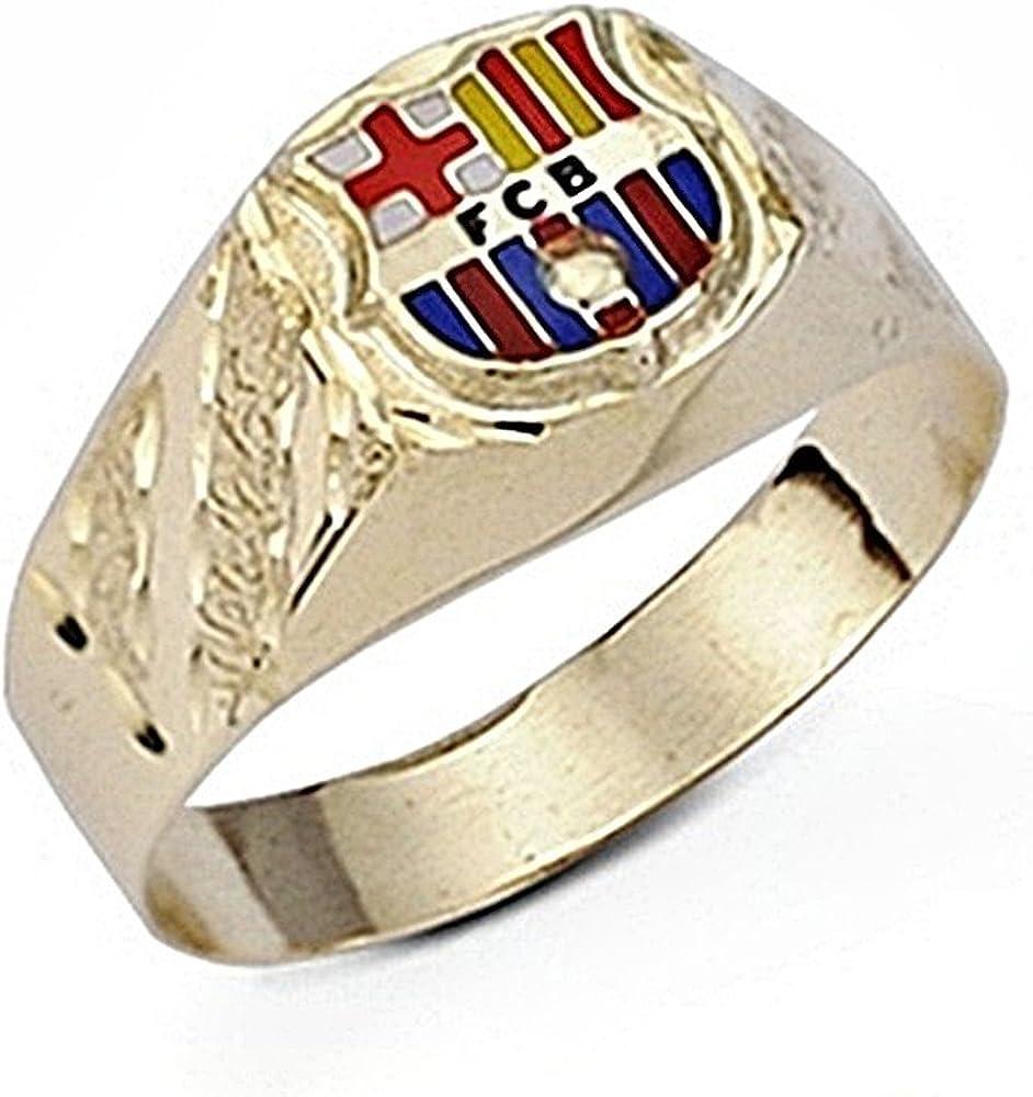 Sello escudo F.C. Barcelona oro de ley 9k hueco pequeno [6554] - Modelo: 0510-053: Amazon.es: Joyería