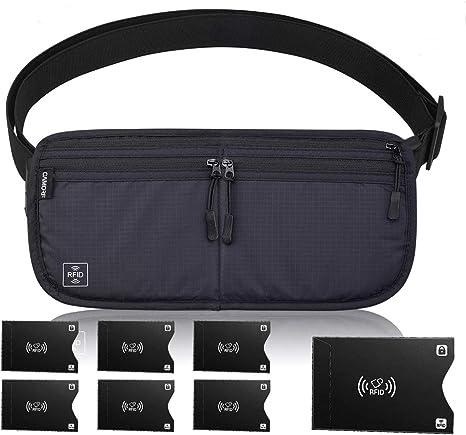 Weatherproof Bags Pouch Pack Belt Money Passport Zip Ticket Bum Travel Small