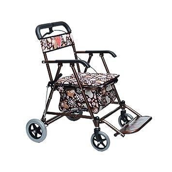 XJZHAN Andador De Andar Ligero con Placa De Pedal Y ...