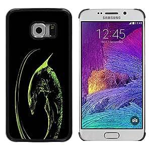 Paccase / SLIM PC / Aliminium Casa Carcasa Funda Case Cover para - Space Alien - Samsung Galaxy S6 EDGE SM-G925