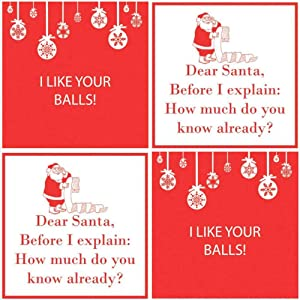 Funny Christmas Cocktail Napkins 40 count Set phrases Assorted Variety Pack Beverage paper napkins snarky scarcastic