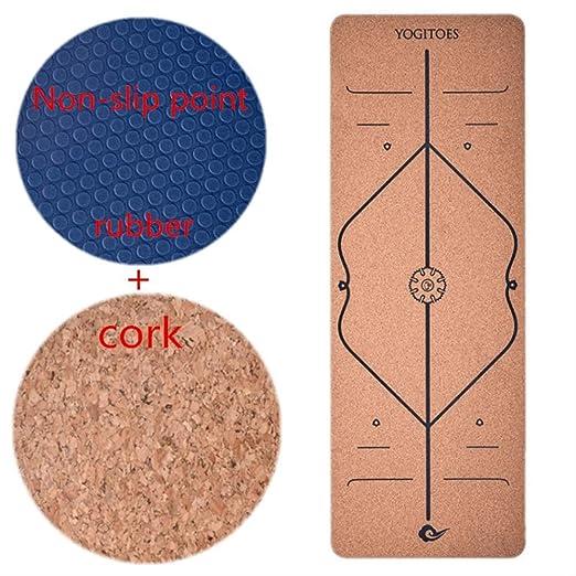 JKL India Yoga Mat 5Mm Cork Rubber Body Line Actividad ...