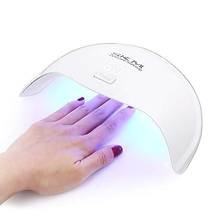 SKM 24W Secador de uñas con 5 Configuración del Temporizador, Herramienta de Manicura LED Fototerapia