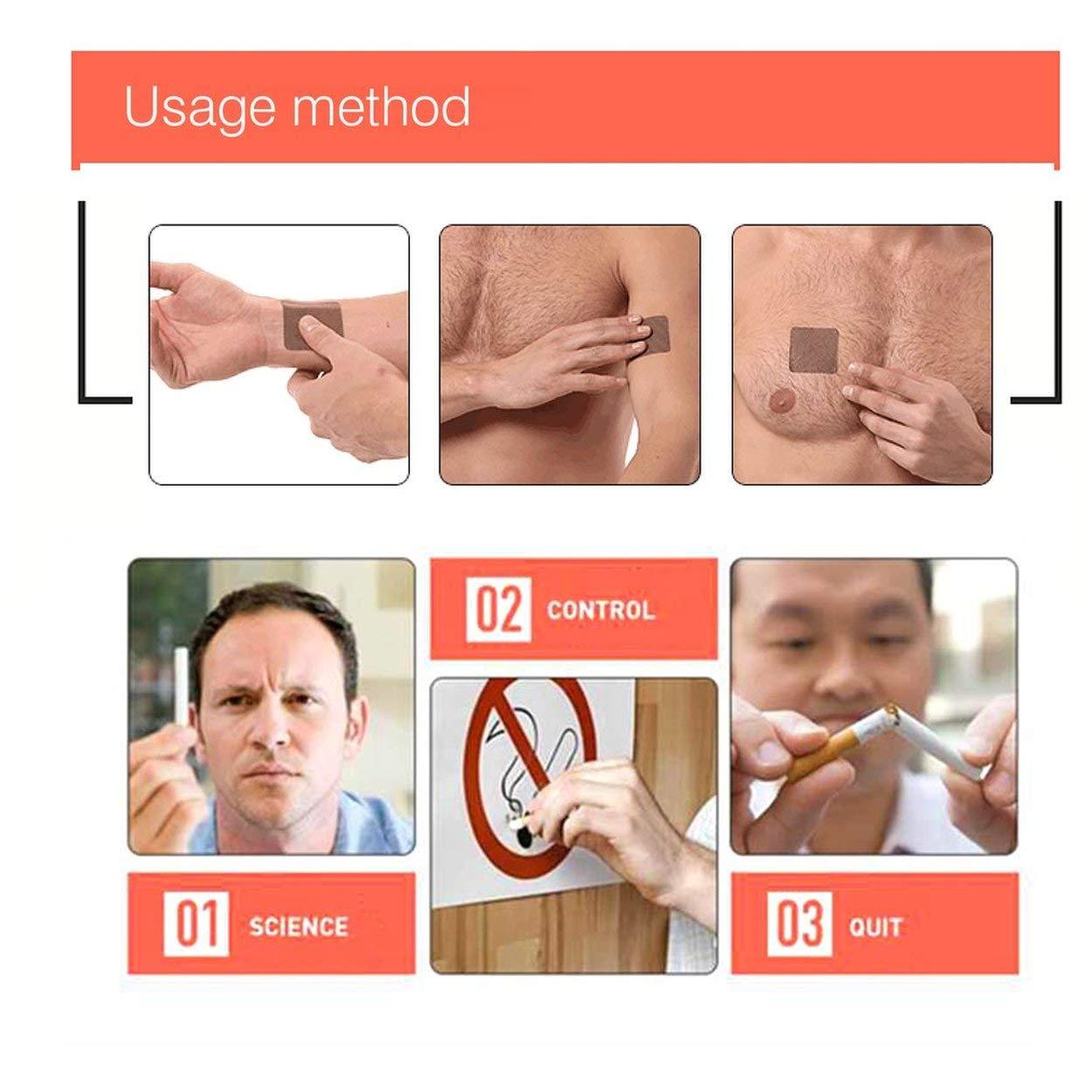 Lofenlli 5 PCS//SET Ingr/édient Naturel Non-Toxique Arr/êter De Fumer Patch Correctement Sain Efficace Arr/êter De Fumer Arr/êter De Fumer Cessation Patch Autocollant