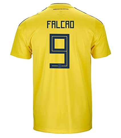 7d467855027 adidas Falcao  9 Colombia Official Home Men s Soccer Jersey World Cup  Russia 2018 (S