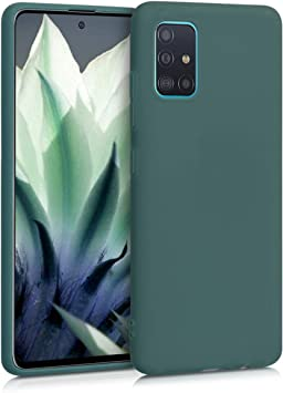 kwmobile Funda Compatible con Samsung Galaxy A51 Protector Trasero en Menta Mate Carcasa de TPU Silicona