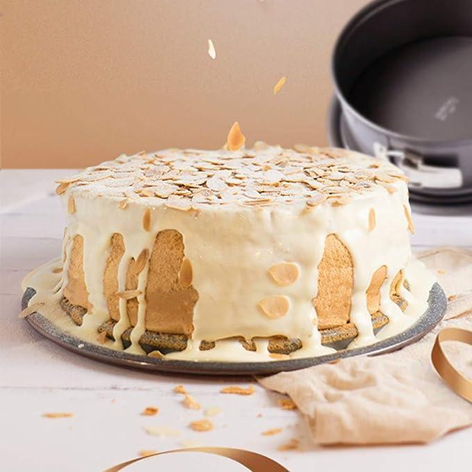 webake 3 unidades Mini molde para pan 4,8 pulgadas Cheesecake pan estanca para tartas con extraíble en la parte inferior: Amazon.es: Hogar