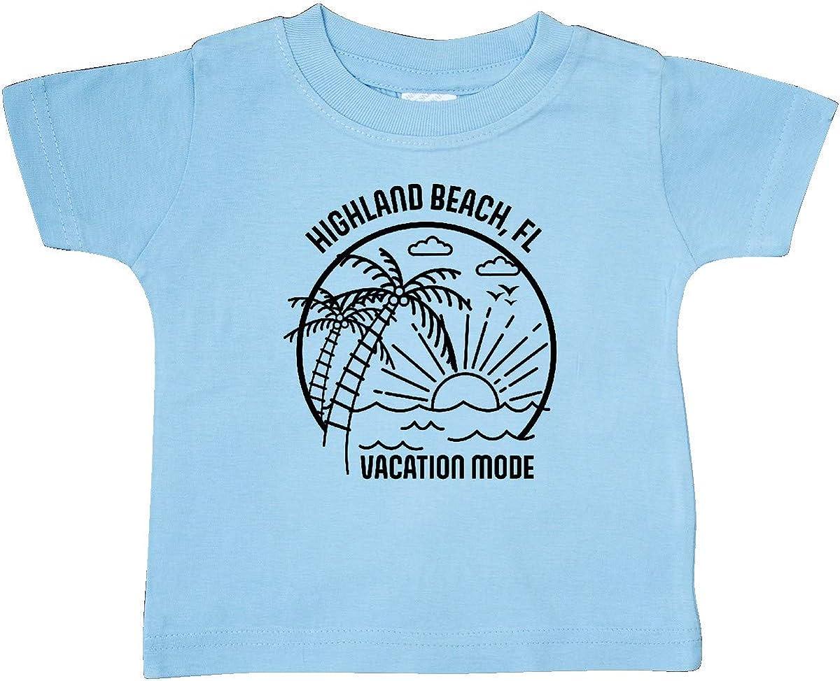 inktastic Summer Vacation Mode Highland Beach Florida Baby T-Shirt