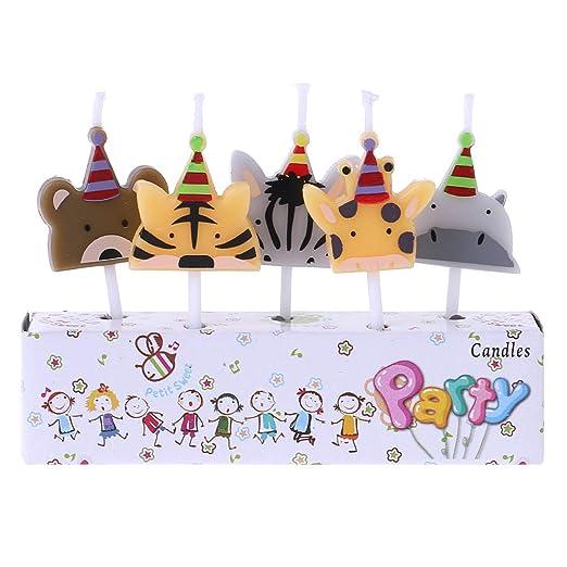 Chiic - Velas de cumpleaños para tartas, diseño de animales ...