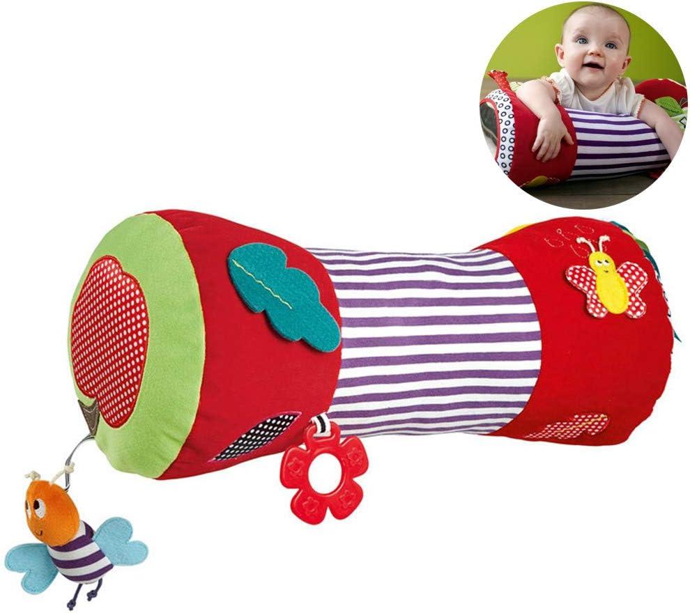 Borstu Crawling Roller Bee Crawling Aid Almohada de Juguete para bebés Almohada de Juguete para niños pequeños para bebés y niños pequeños a Partir de 6 Meses, Multicolor