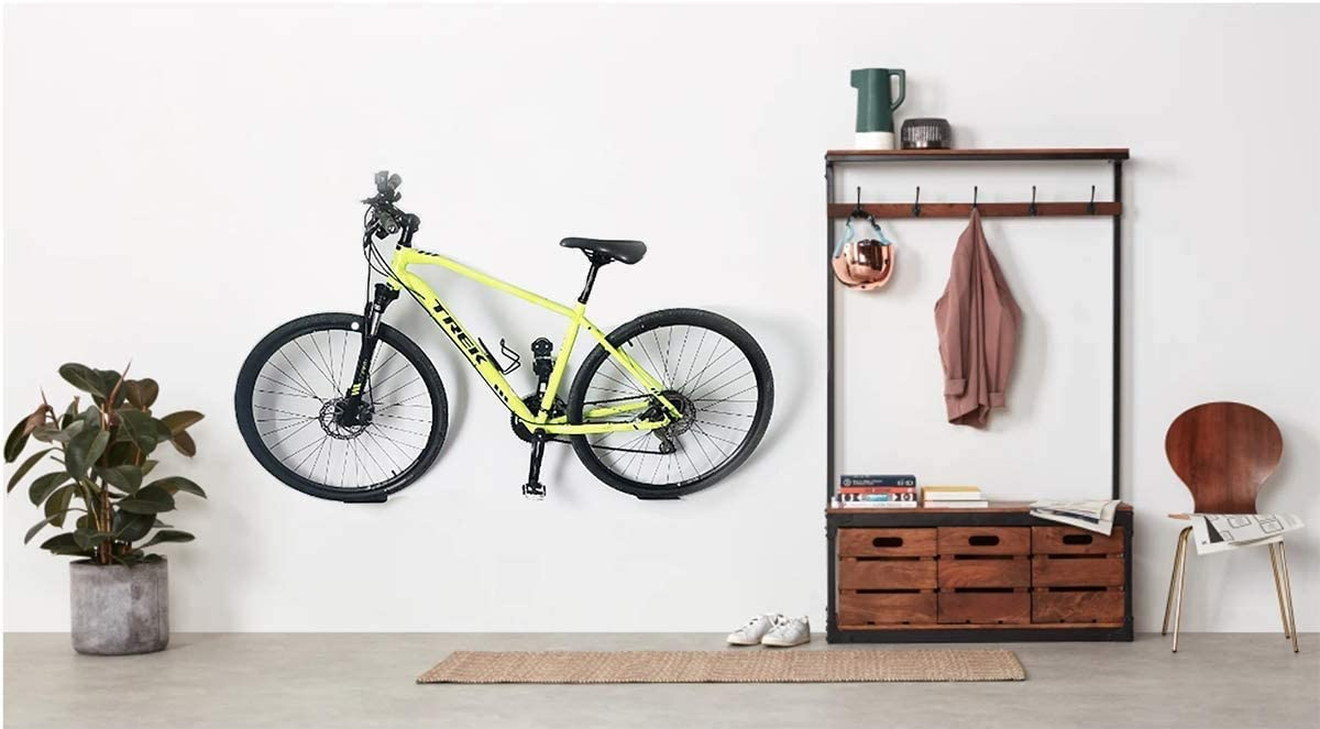 Update Bike Wall Mount Hanger Heavy Duty Horizontal Bicycle Storage Rack Holder for Garage and Apartment