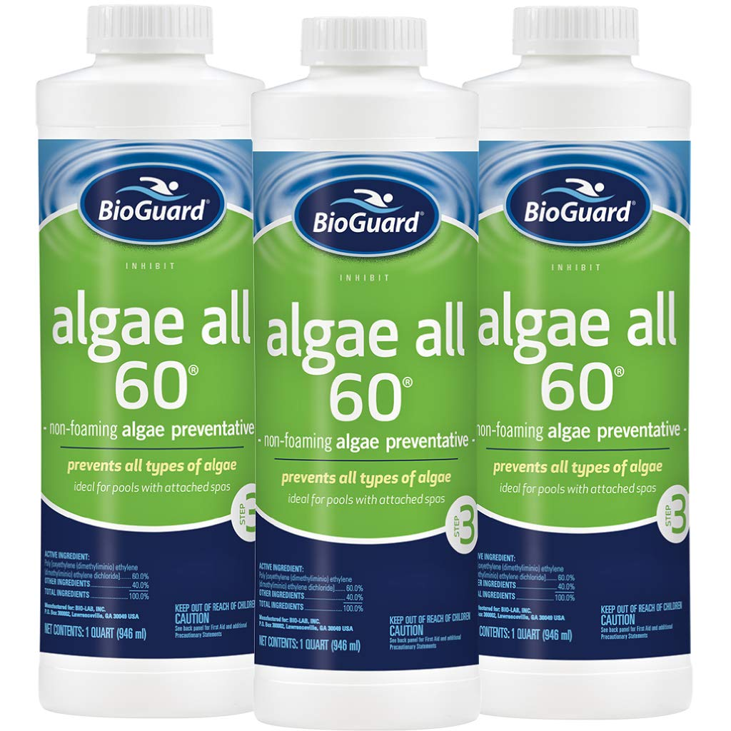 BioGuard Algae All 60 (1 qt) (3 Pack) by BioGuard