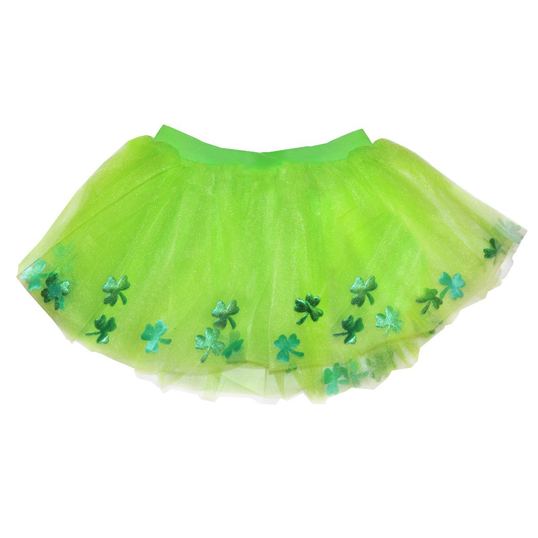 Gone For a Run Runners Premium Tutu Lightweight | One Size Fits Most | Colorful Running Skirts | Lucky Clovers Green by Gone For a Run