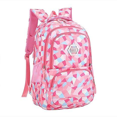 XHHWZB Mochila Escolar Impermeable para niña Mochila Escolar Linda para niña Mochila para Mujer Rhombus (