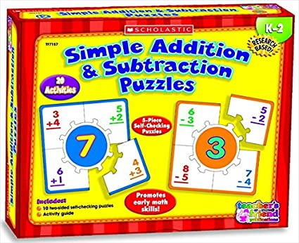 Amazon Com Scholastic 091550 Simple Addition And Subtraction Hands