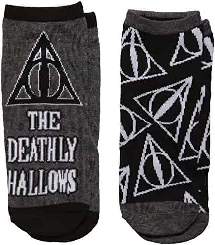 40cd504f6 Harry Potter Deathly Hallow Tossed Women s 2-pack Low-cut Socks