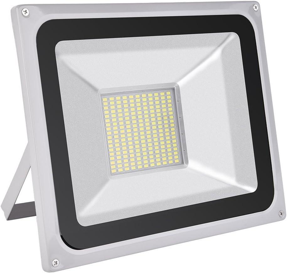CSHITO Foco LED 100W, Lámpara LED exterior, Impermeable,Blanco frío 6500K, Foco proyector exterior