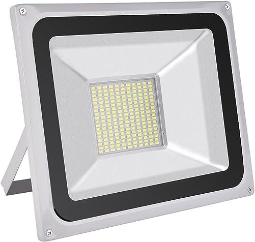 Viugreum 100W LED Flood Light, Waterproof IP65 Outdoor Work Lights, 110V 8000LM Daylight White 6000K , Super Bright Security Floodlights, Wall Lights for Garage, Garden, Yard