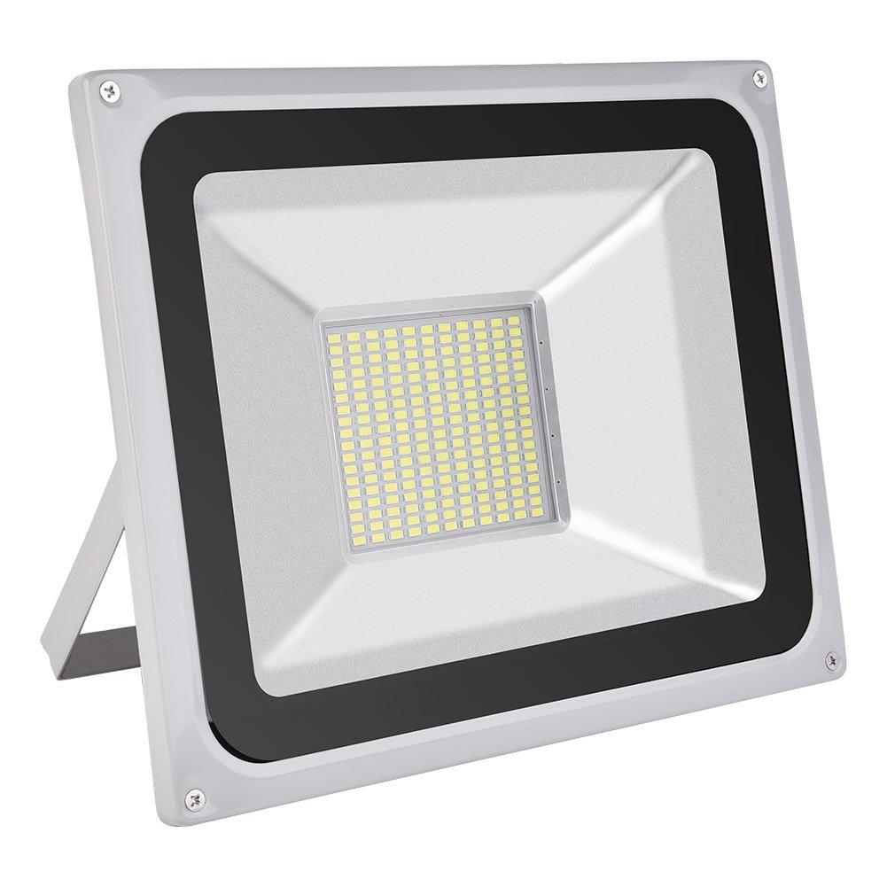CSHITO LED Flutlichtstrahler 100W Scheinwerfer LED Fluter Flutlicht Außenlampen Aussenstrahler Wandstrahler Kaltweiß (100W)