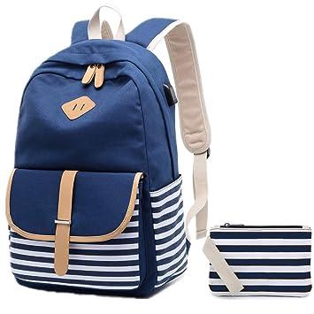 gute Qualität niedrigster Rabatt zum halben Preis Rucksack Mädchen, Canvas rucksack damen Schultaschen Schulranzen ...