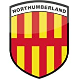 Northumberland County Flag Vinyl Car Sticker - Exclusive