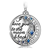 "Amazon Price History for:NinaQueen ""I Love You to the Moon and Back"" 925 Sterling Silver Charms with Cubic Zirconia, Dangle Charms ""Best Love Gifts"""