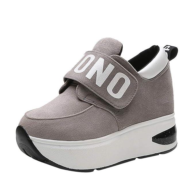 Zapatos de Mujer, ASHOP Casual Planos Loafers Mocasines de Puntera otoño Invierno Incremento de Suela Gruesa de Malla al Aire Libre Botas de para Mujer: ...