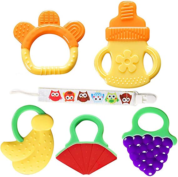 Baby Silicone Teether,Sensory Chew Toys,BPA Free Soft and Effective Infant Teething Pain Relief Toys,Freezer Safe,Food Grade Silicone,Best Shower Gift for Boys and Girls Cactus