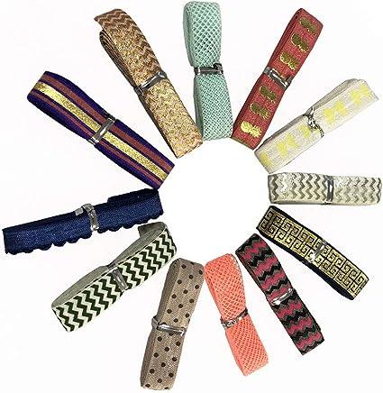 Hair Ties Headband By The Yard 15mm Rainbow of Colors Crochet Lace FOLD OVER Elastic 58 FOE
