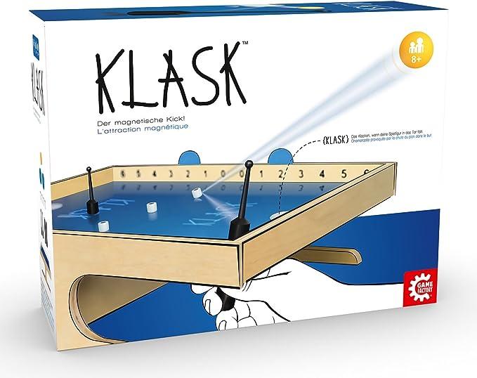 Game Factory Klask - Juego de habilidades motrices finas para niños y adultos, juego de tablero: Amazon.es: Juguetes y juegos