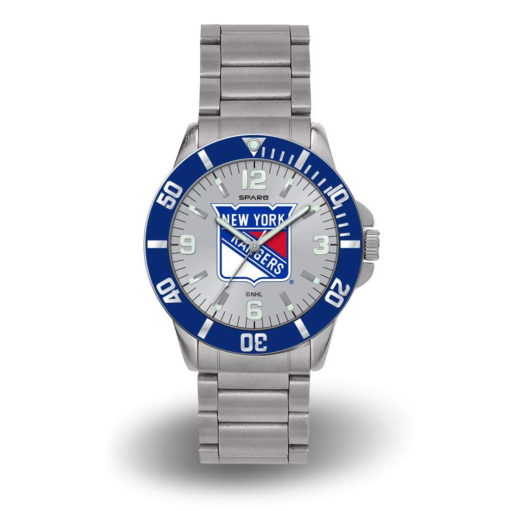 Rico DEAD New York Rangers NHL Key Watch with Stainless Steel Band