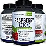 Pure Raspberry Ketones Supplement - Natural Fat Burner & Appetite Suppressant - Boosts Metabolism - Reduces Belly Fat Fast - Weight Loss Product for Men & Women - 60 Capsules - Huntington Labs
