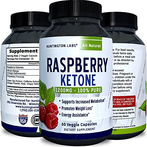 Tea Apple Vinegar Cider Green (Raspberry Ketones Weight Loss Keto Supplement with Pure African Mango Apple Cider Vinegar and Green Tea - Natural Fat Burner Metabolism Booster Appetite Suppressant for Men & Women by Huntington Labs)