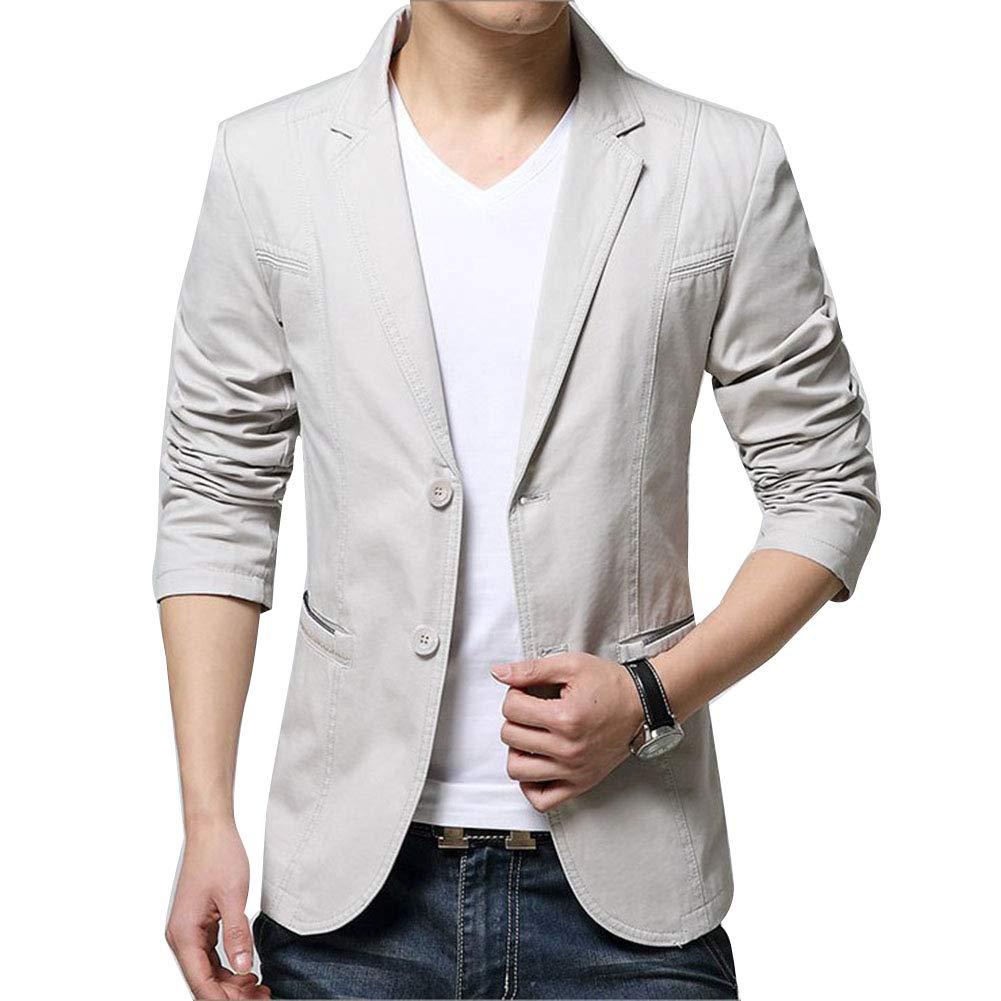 Veste De Costume Slim Homme Blazer Jacket Blouson