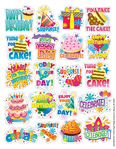 Birthday Scrapbooking Stickers - Eureka Birthday Stickers, Theme (655062)