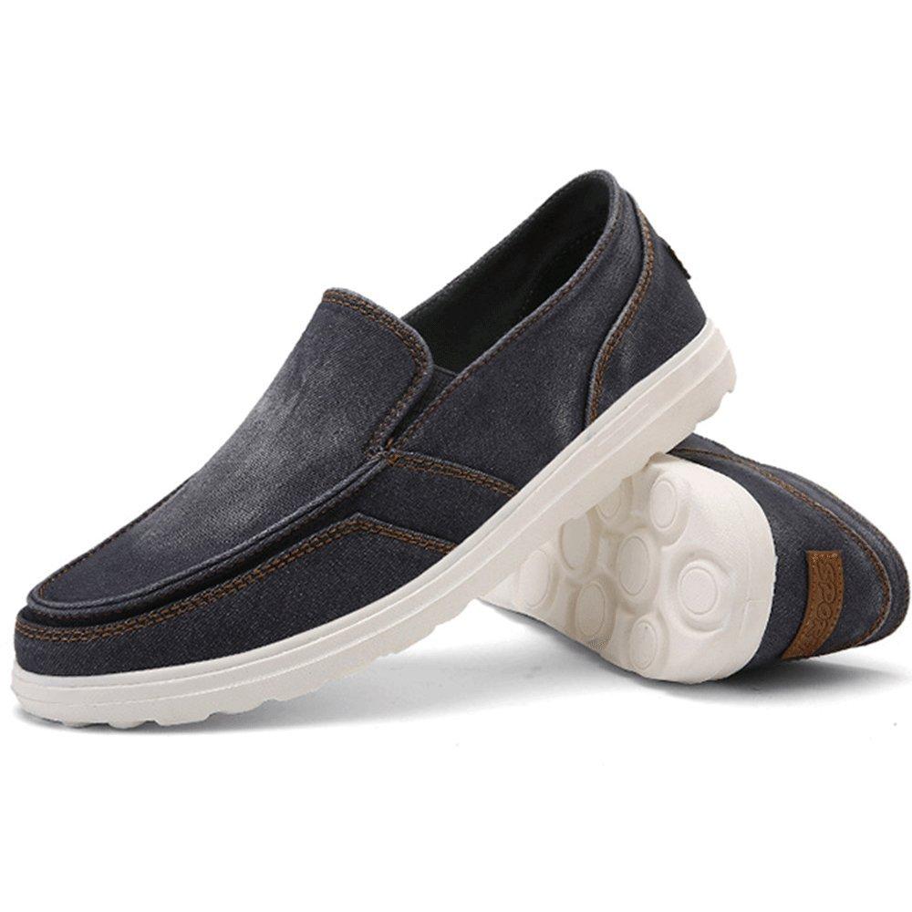 REETENE Mens Summer Canvas Ultralight Lazy Shoes for Men