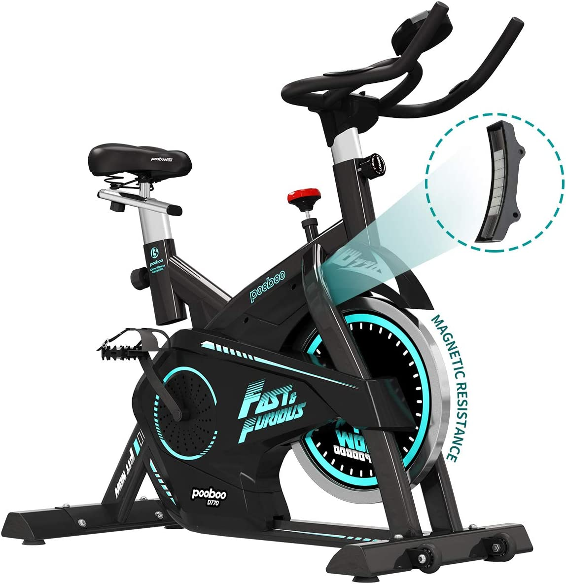 pooboo Belt Drive Indoor Cycling Bike