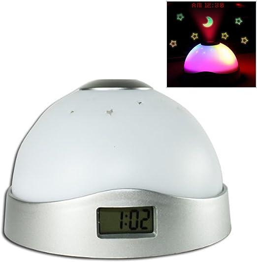 Gosear Luna Estrellas Colorido Cielo LED proyección Reloj ...