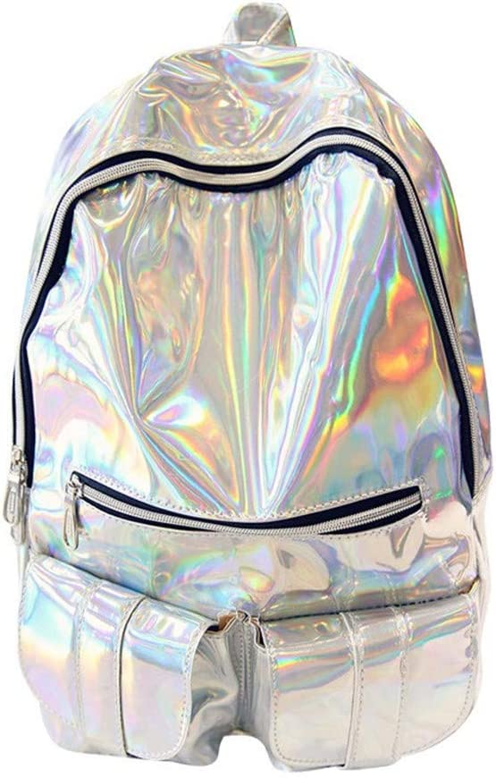 Hologram Backpack Womens Bling Glitter Bags Laptop Bag School Backpack