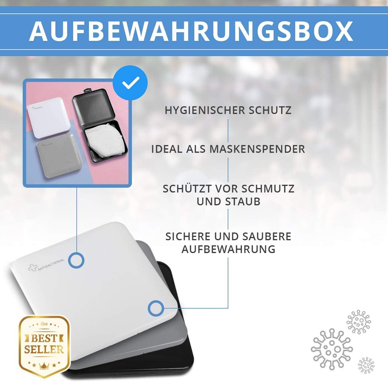 schwarz grau Edelmann Hamburg Premium Designer Maskenbox Masken ...