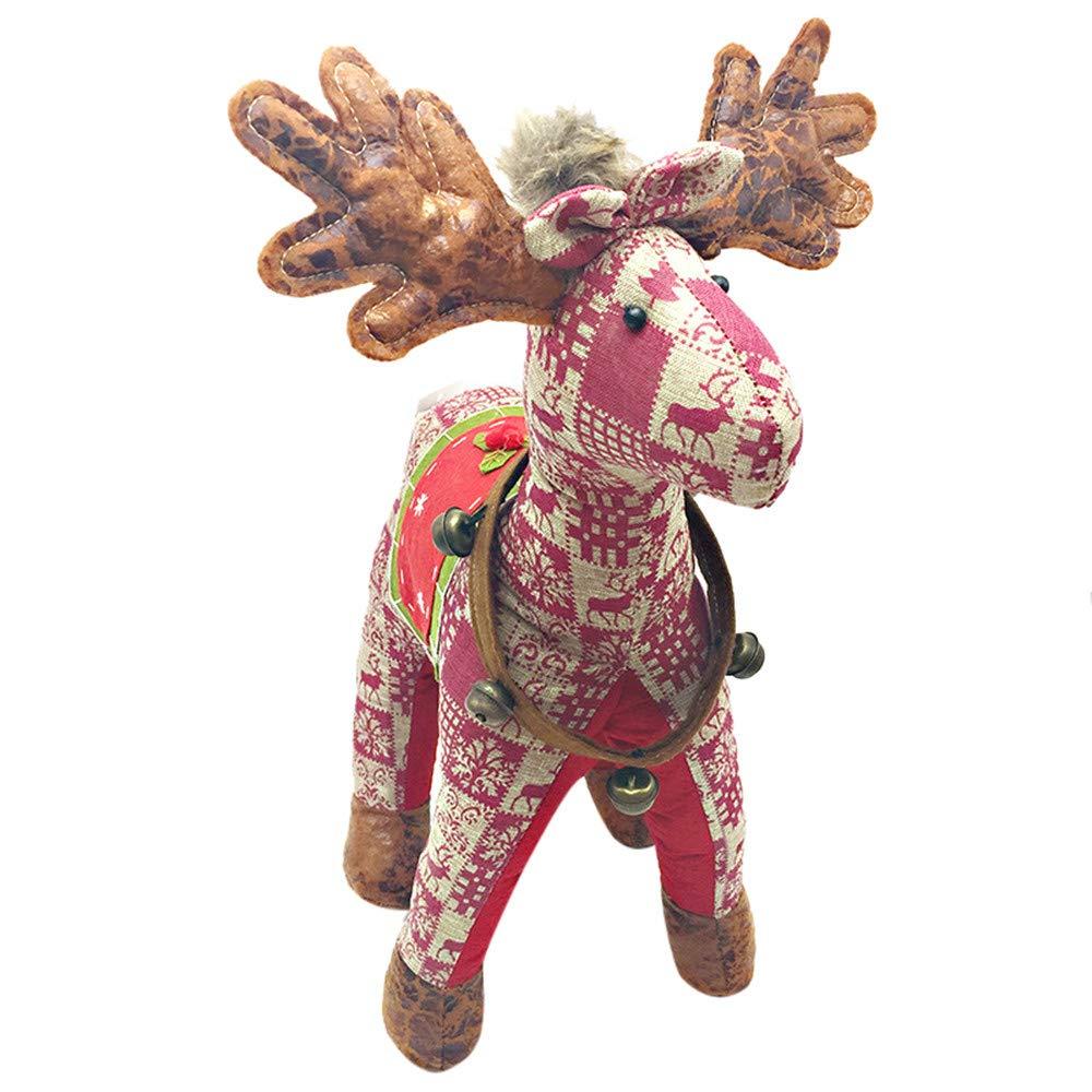 Aobiny クリスマス クリスマス ぬいぐるみ クリエイティブ B07K83C176 生きているような スコットランドの格子柄 シカ エルクぬいぐるみ レッド 子供用 48cm レッド le レッド B07K83C176, 登山用品とアウトドアのさかいや:bd7ec54e --- integralved.hu